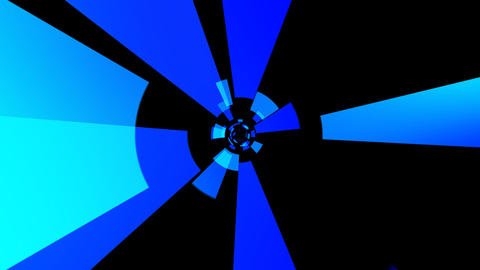 blue solid tunnel with alpha Animation