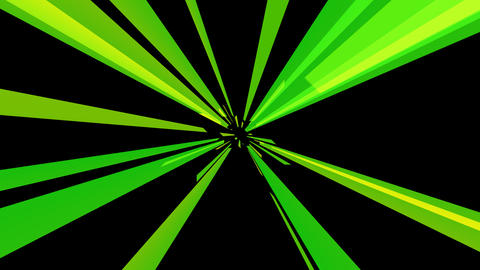 radial green tunnel with alpha Stock Video Footage