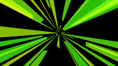 radial green tunnel with alpha Animation