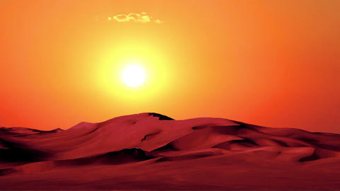 Sunset in Desert 1 Stock Video Footage