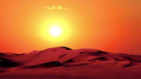 Sunset in Desert 1 Stock Video Footage
