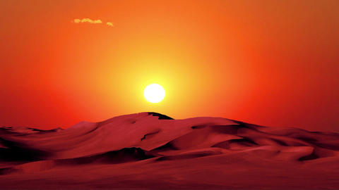 Sunset In Desert 1 stock footage