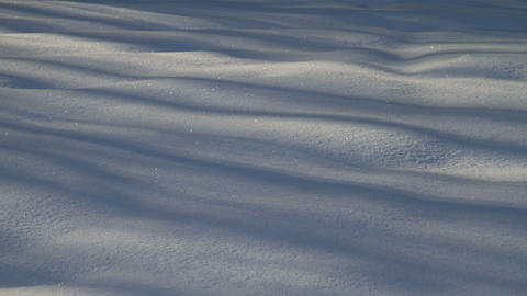 snow shadows Stock Video Footage