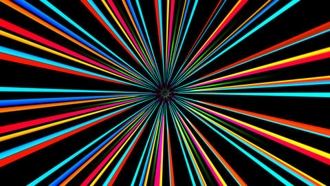 colorful line rays with alpha Animation