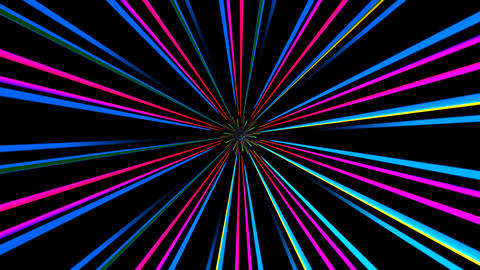 colorful line rays with alpha Stock Video Footage