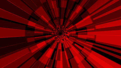 red hypnotize tunnel with alpha Stock Video Footage