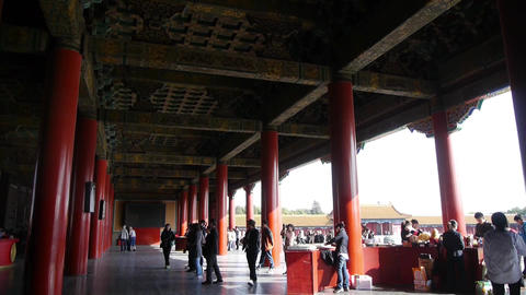 China's royal ancient architecture,Wooden structure... Stock Video Footage