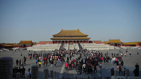 Forbidden City & tourist,China's royal ancient... Stock Video Footage