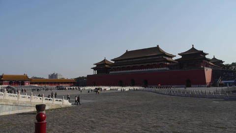 forbidden city,China's royal architecture Stock Video Footage