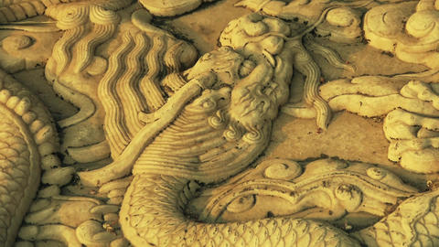 china royal stone dragon totem in sunset,forbidden city Stock Video Footage