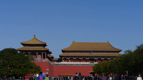 timelapse beijing forbidden city & tourist,China's... Stock Video Footage