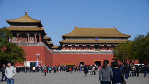 timelapse beijing forbidden city & tourist,China's... Stock Video Footage