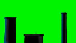 INDUSTRIAL CHIMNEYS Stock Video Footage