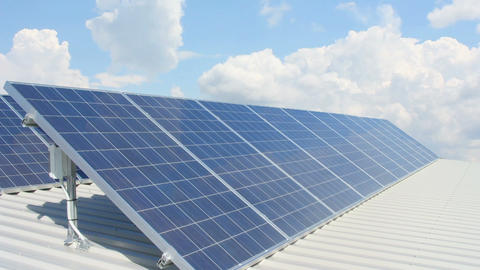 Solar battery 5 Stock Video Footage