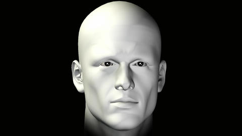 man rotating human head Animation