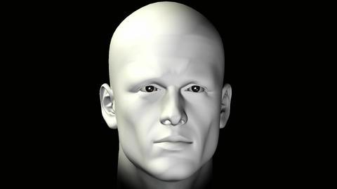 man rotating human head Animation