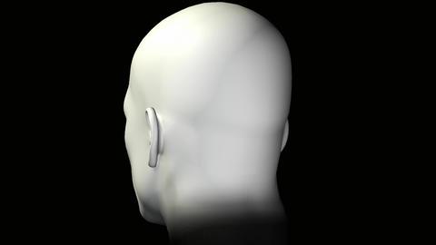 man rotating human head Stock Video Footage