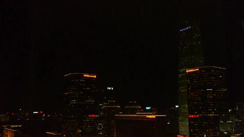 video camera moving from skyscraper to busy... Stock Video Footage