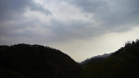 Panoramic of mountains,Altocumulus cloud in sky Footage