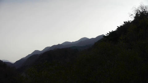 Panoramic Of Hill Mountains In Wind. stock footage