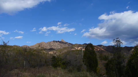 Panoramic of sunny mountains & Ancient city... Stock Video Footage