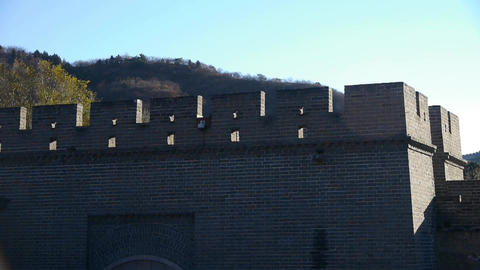 Ancient city Great Wall texture.roof of Forbidden City... Stock Video Footage
