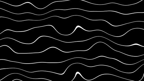 twirly wave lines with alpha Stock Video Footage