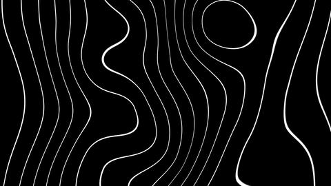 abstract wave lines with alpha Animation