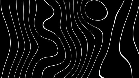 abstract wave lines with alpha Stock Video Footage