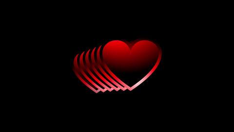 Heart matrix Stock Video Footage