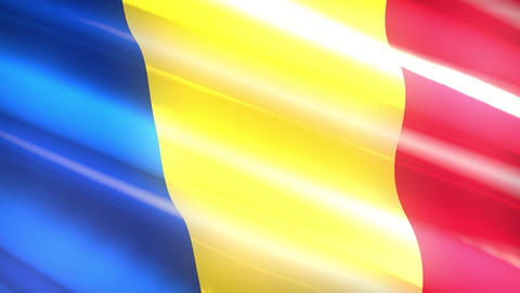 Romania holiday flag - loop animation Animation