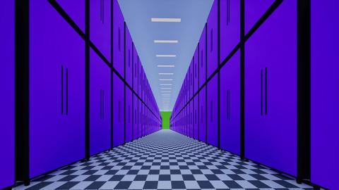 Data center technology big data concept IT Future technology Ai artificial Animation