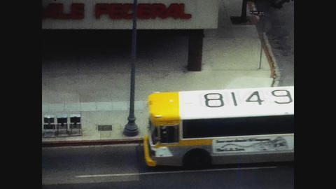 Los Angeles, USA 1979, Bus in Los Angeles Live Action