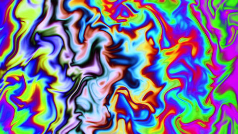Flowing Waves of Psychedelic Trippy Colors VJ Loop Background Animation