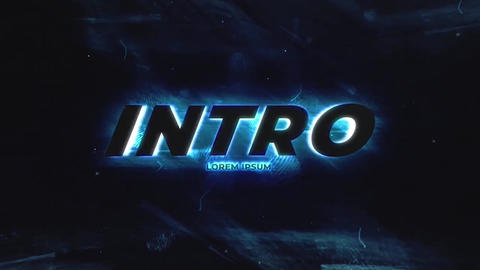 Lightning Neon Intro After Effects Template
