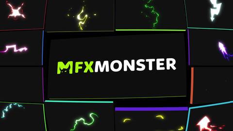 Cartoon Lightning Elements After Effects Template