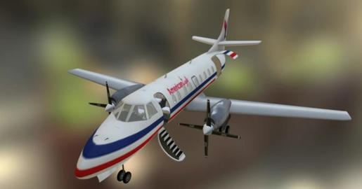 Fairchild swearingen metroliner A 3D Model