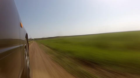 Fast driving on a country road. Timelapse Footage