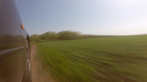Fast driving on a country road. Timelapse Stock Video Footage