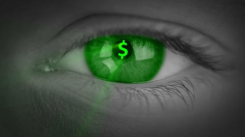 Only Money In The Eyes stock footage