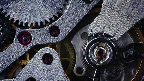 The mechanism of old watches. Close-up Stock Video Footage