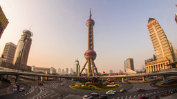 Day view of the East Pearl Tower Stock Video Footage