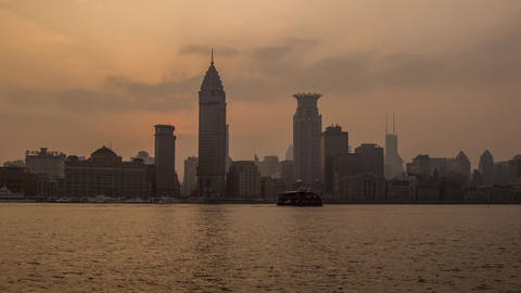 The Bund Sunset Time Lapse Footage