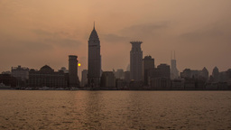 The Bund Sunset Time Lapse Stock Video Footage