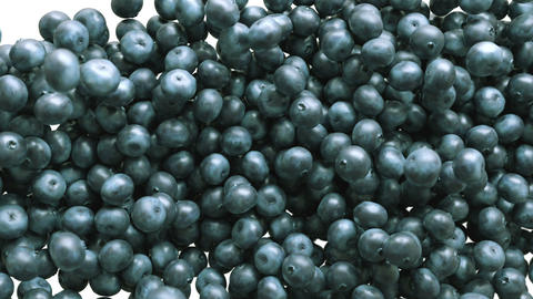 Blueberry slow motion flow and filling the screen. Alpha... Stock Video Footage