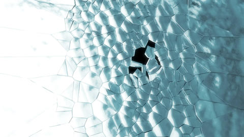 Shattered ice or glass with slow motion. Alpha is included Stock Video Footage