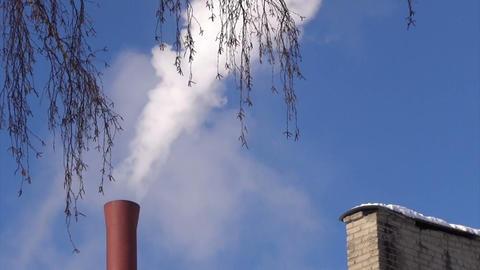 Smoking chimney Stock Video Footage