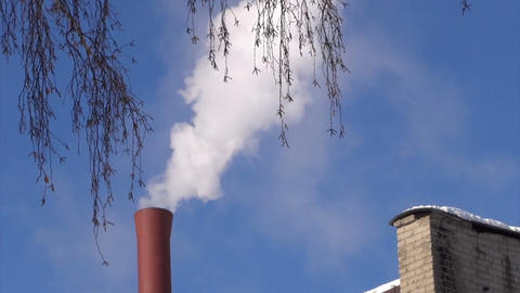Smoking chimney Footage