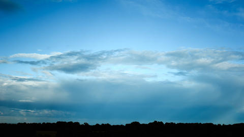 time lapse of cloudy sky and rainbow Stock Video Footage
