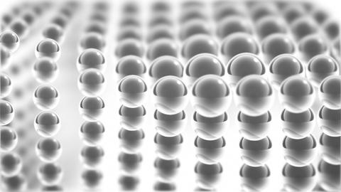 white glass spheres loopable background Stock Video Footage